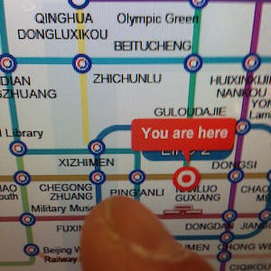View enlargement of I point to Chegong Zhuang station on the map.