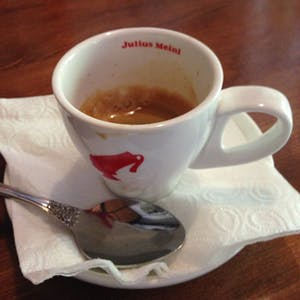 View enlargement of A small espresso, with a good crema.