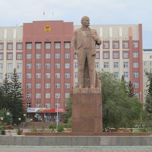 Lenin keeps watch.