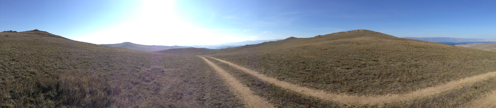 Hills as far as the eye can see.