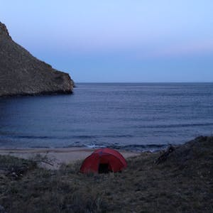 View enlargement of My tent is only a few metres away from the waves.