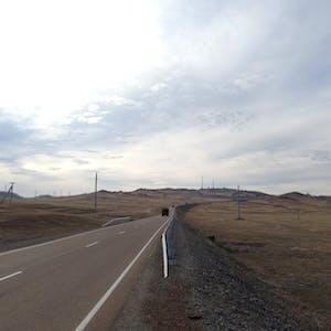 View enlargement of The highway to Irkutsk.