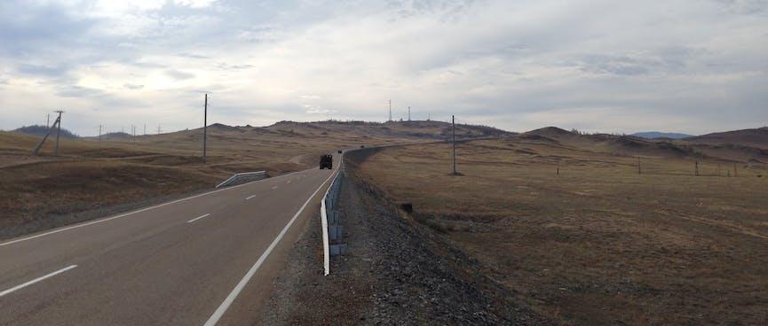 The highway to Irkutsk.
