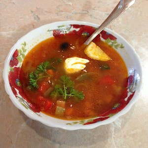 View enlargement of The sunny soup.