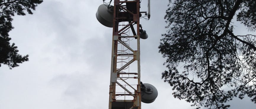 A cellphone tower.