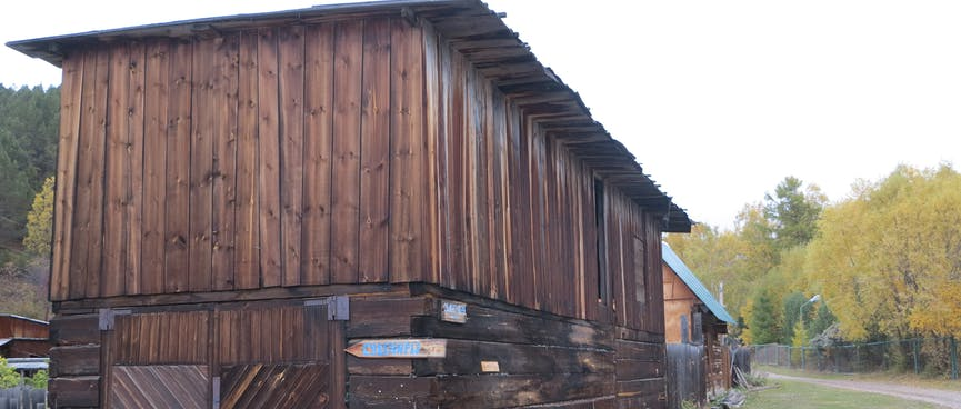 Wooden doors on a storehouse.