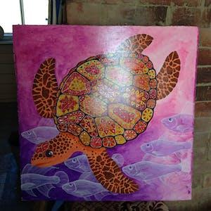 Patchwork turtle.
