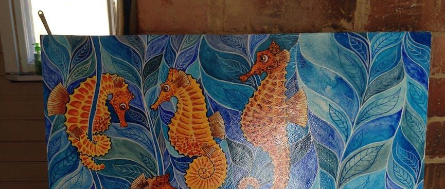 Socialising seahorses.