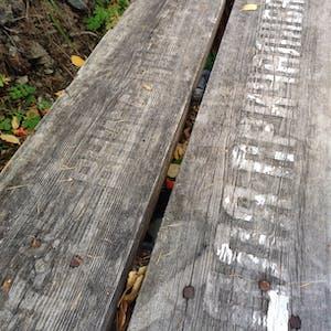 Faded inscriptions.