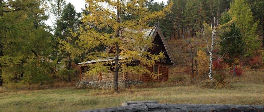 Lodge cabin.