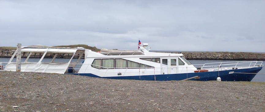 One passenger boat.