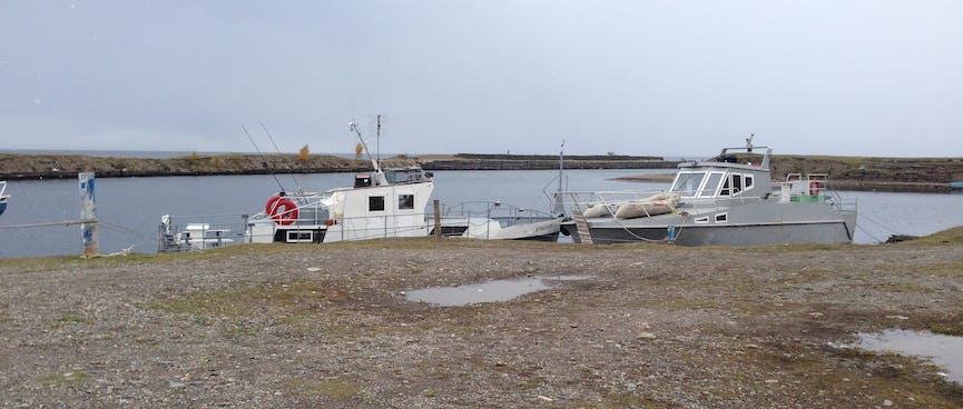 Two fishing boats.