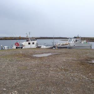 View enlargement of Two fishing boats.