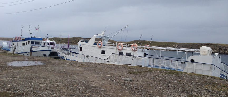 Two passenger boats.