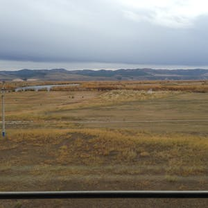 The gorgeous colours of the steppe.