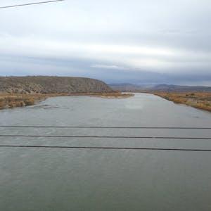 Crossing the Selenge River.