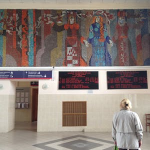 Mural at the Railway Station.
