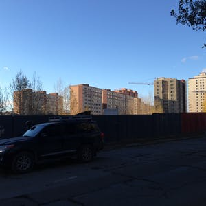 Blocks of apartment blocks.