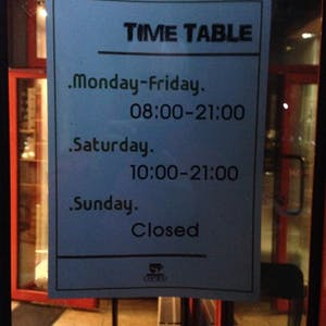 All-English hours.