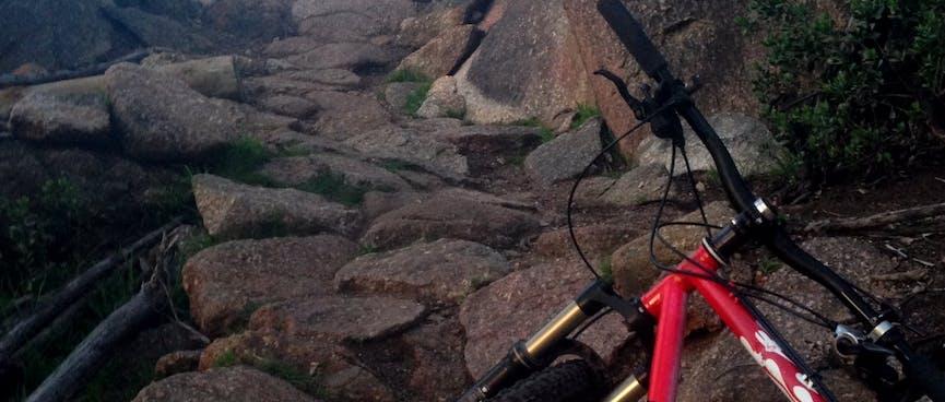 Hike-a-bike in the You Yangs.