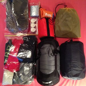View enlargement of Sleeping gear.