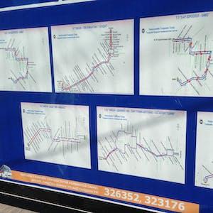 Bus route maps.