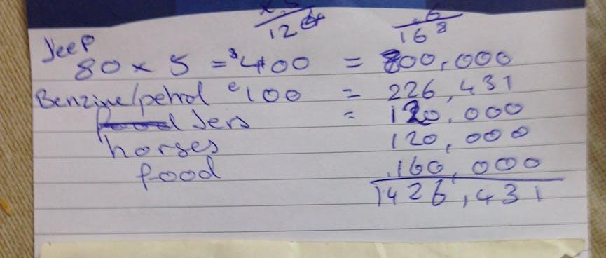Handwritten prices in Mongolian Tugriks.