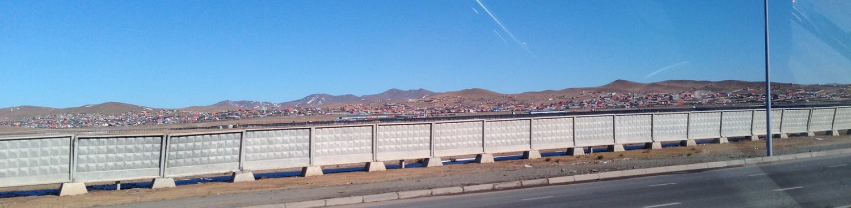 Houses on the hillside.