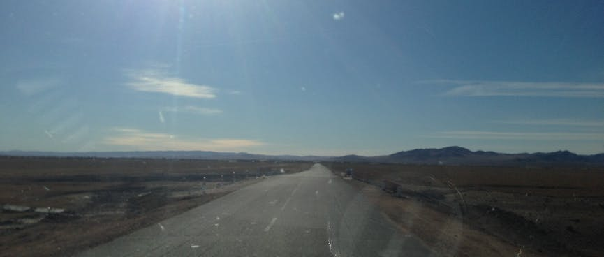 A two lane highway.