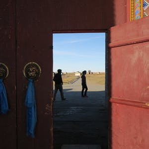 Entering Erdene-Zuu-Khild.