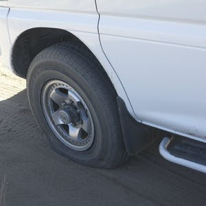The inevitable flat tyre.