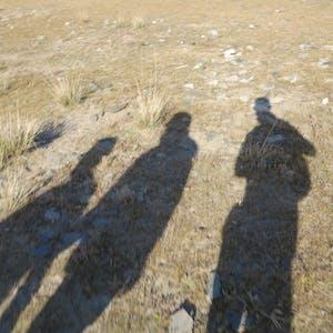 Shadowy tourists.