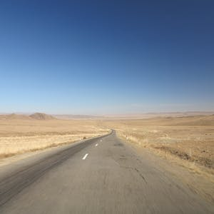 The long dry road.