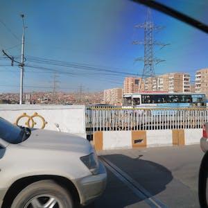 Town traffic.